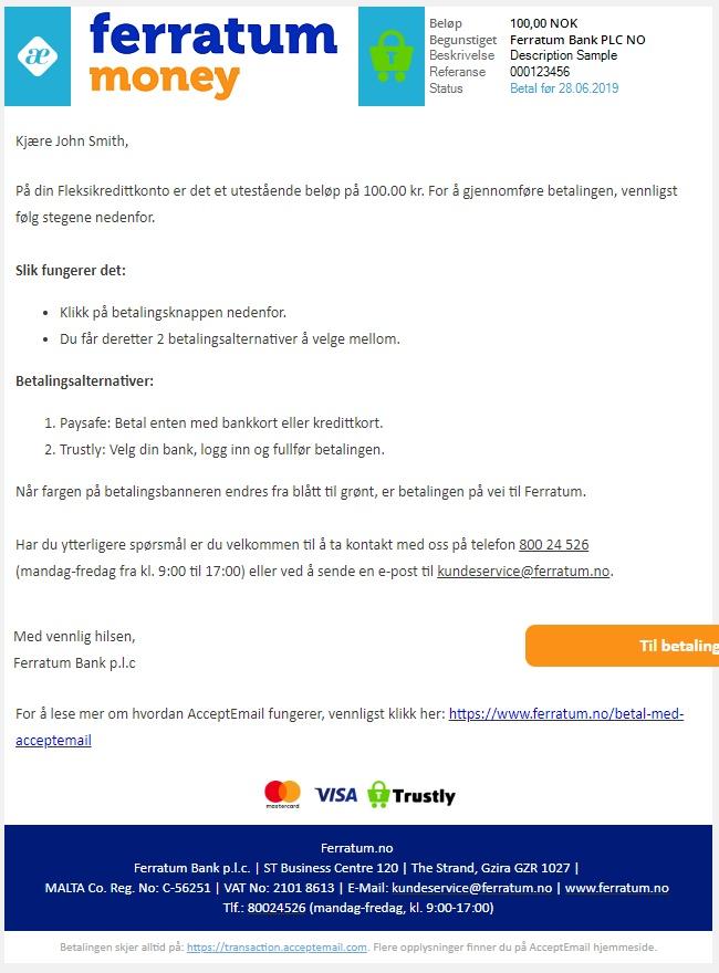 12c4a7a1 Betal med AcceptEmail | Ferratum